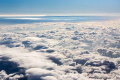 Cloud sea view from plane Stock Image