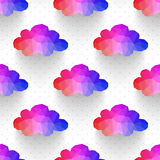 Cloud seamless pattern. background made of triangles Square comp Stock Photos