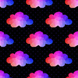 Cloud seamless pattern. background made of triangles Square comp Stock Photo