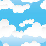 Cloud seamless pattern_eps Royalty Free Stock Photos