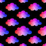Cloud seamless pattern with. hipster background made of triangle Stock Photo