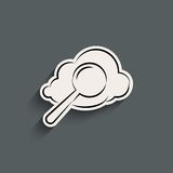 Cloud search icon Royalty Free Stock Photography