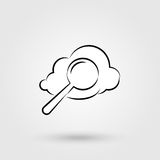 Cloud search icon Royalty Free Stock Photo