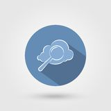 Cloud search icon Royalty Free Stock Images