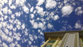 Cloud seas on morning sky. Cloud seas and building in the early morning Royalty Free Stock Photo