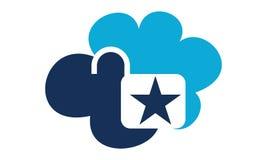 Cloud Secure Logo Design Template. Vector stock illustration