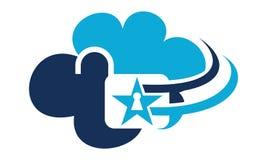 Cloud Secure Logo Design Template. Vector royalty free illustration