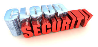 Cloud Security. Online Data Security on White Royalty Free Stock Image