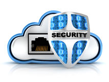 Cloud security. Blue Cloud security (done in 3d Stock Photography