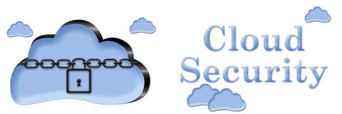 Cloud Security Chain Lock Banner Royalty Free Stock Image