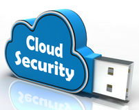 Cloud Security Cloud Pen drive Means Online Royalty Free Stock Photos