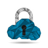 cloud security design stock photos