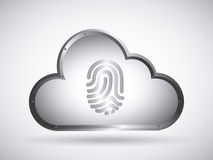 Cloud security. Design, vector illustration eps10 graphic Royalty Free Stock Images