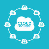 Cloud security Stock Images