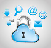 Cloud security design Royalty Free Stock Images