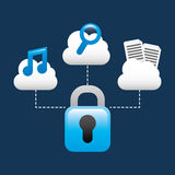 Cloud security design Royalty Free Stock Photography