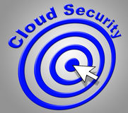 Cloud Security Shows Information Technology And Computer Royalty Free Stock Image
