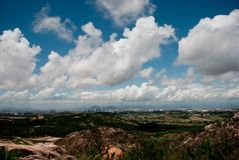 Cloud seen from the top of the mountain royalty free stock image
