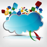 Cloud Server Royalty Free Stock Photography
