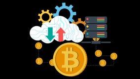 A cloud server and bitcoins.