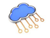 Cloud server concept Stock Image