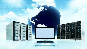 Cloud server concept Stock Photos