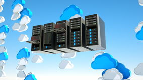 Cloud server stock footage