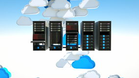 Cloud server stock video footage