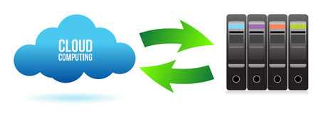 Cloud server file transfer concept. Illustration design Stock Photos