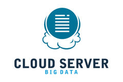 Cloud server logo. Logo design of cloud and server company Stock Photo