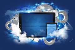 Cloud Server Technology Royalty Free Stock Photos