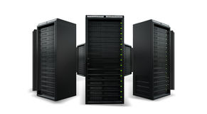 Cloud servers in a cyrcle. On a white background Royalty Free Stock Photography