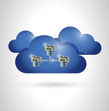 Cloud and servers illustration design Royalty Free Stock Photography