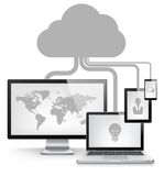 Cloud Service Concept Royalty Free Stock Images