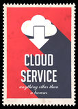 Cloud Service Concept on Red in Flat Design. Stock Photos