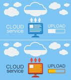 Cloud Service Concept Vector Illustration. Stock Photos