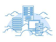 Cloud service database Royalty Free Stock Photography