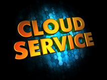 Cloud Service on Digital Background. Royalty Free Stock Images