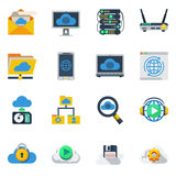 Cloud Service Flat Color Icons Royalty Free Stock Photos