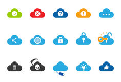 Cloud Service icons - Illustration Set 2. Flat Design Vector Illustration: Cloud Service icons Set 2 Stock Photography