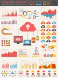 Cloud Service Infographic Elements Royalty Free Stock Images