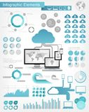 Cloud Service Infographic Elements Royalty Free Stock Photos