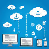 Cloud Service Infographics Stock Images