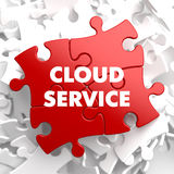 Cloud Service on Red Puzzle. Stock Image