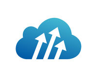 Cloud Service Technology Logo. on-line business Stock Photography