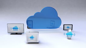 Cloud service with ubiquitous mobile device concept stock footage