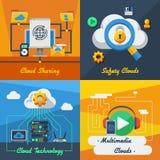 Cloud Service 2x2 Design Concept Stock Photos