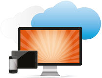 Cloud services Royalty Free Stock Images
