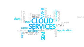 Cloud services, animated typography. Cloud Services, Animated Inforgraph,4k  high quality stock video footage