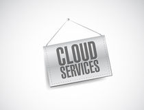 Cloud services banner sign illustration design Royalty Free Stock Photo
